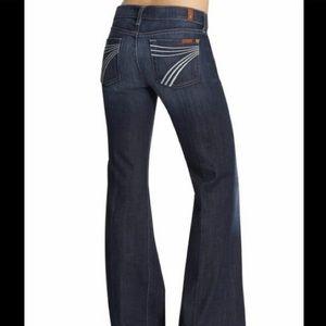 7 for ALL MANKIND, Dark Wash 'Dojo' Wide Leg Jeans